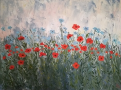 Červené květiny - 1196