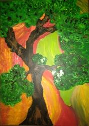 Odpočinek u stromu - 1306