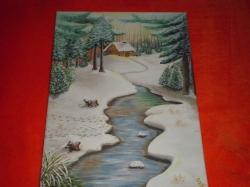 Potok v zimním lese - 1308