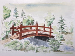 Dřevěný most - 1319