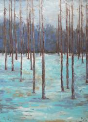 Zimní les - 1196