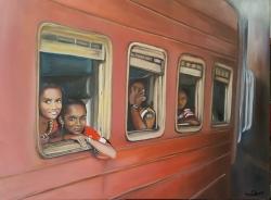 Momentka ze srílanského vlaku - 1362