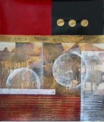 Historické zrcadlení 60x90 - 634