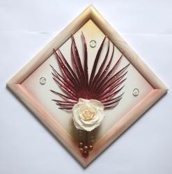 Květina z přírodního materiálu 3D - 1442