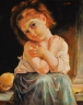 Dívka s pomerančem.