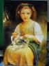 Dívka s věnečkem.
