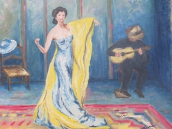 Tanečnice v modrém