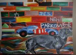 Pes neni parkoviste - prodejce: 1042