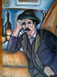 Můj Muž s dýmkou podle Cezanna