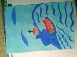 lodka na mori - 1142