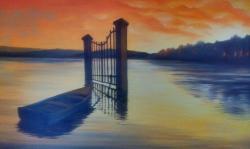 osamělá loďka
