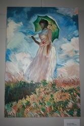 Žena se slunečníkem