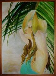Dívka s kloboukem - 1196