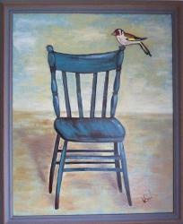 Modrá židle - 1196