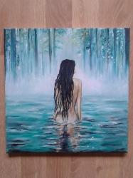 Žena v jezeře