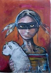 Indiánka, která sa menuje ,,Malý bizon,, - 1205