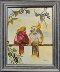 Dva mluvící papoušci