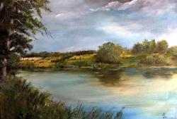 Na břehu rybníka. - 1214