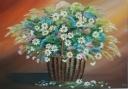 Košík s květinami  - 1218