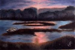 Podvečer u jezera - 1226