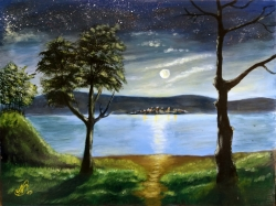 Noční jezero - 1226