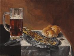 Zátiší s pivem - 1242