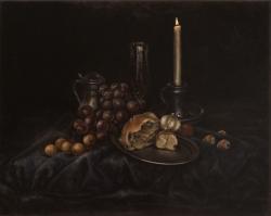 Zátiší se svíčkou - 1242