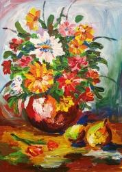 Květiny ve váze - 1247