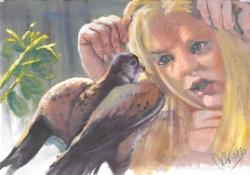 Dívka s dravcem - 1257