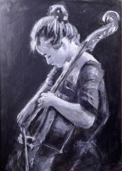 Dievca s violoncelom - 1261